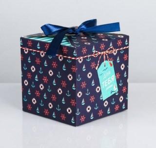 Подарочная коробка «Морская» 12 × 12 × 12 см купить в Минске +375447651009