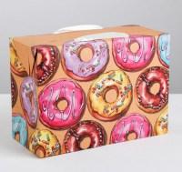 Подарочная коробка-пакет «Сладкие пончики» 28 × 20 × 13 см купить в Минске +375447651009