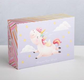 Подарочная коробка «Веселый единорог» 16 × 23 × 7,5 см купить в Минске +375447651009