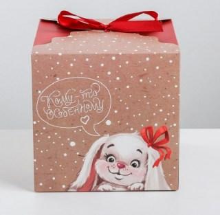 Подарочная коробка «Зайки» 18 × 18 × 18 см купить в Минске +375447651009