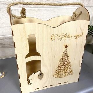 Подарочная упаковка «Новогодняя» деревянная купить в Минске +375447651009