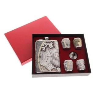 Подарочный набор с фляжкой «Карта мира» 6 в 1 купить Минск
