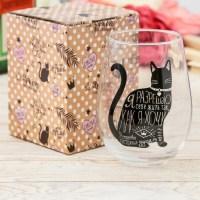 Подарочный бокал для вина «Котик» 620 мл купить Минск +375447651009
