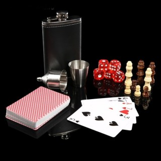 Подарочный игровой набор с фляжкой «Black Vegas» в шкатулке купить в Минске +375447651009