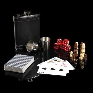 Подарочный игровой набор с фляжкой «Магнат» в шкатулке купить в Минске +375447651009