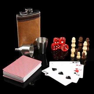 Подарочный игровой набор с фляжкой «Вегас» в шкатулке купить в Минске +375447651009