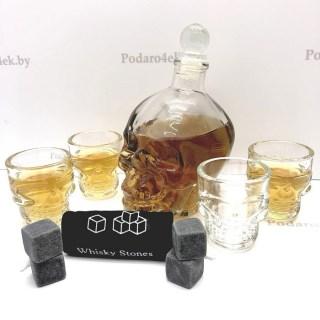 Подарочный набор для спиртного «ЧЕРЕП» на 4 персоны купить Минск