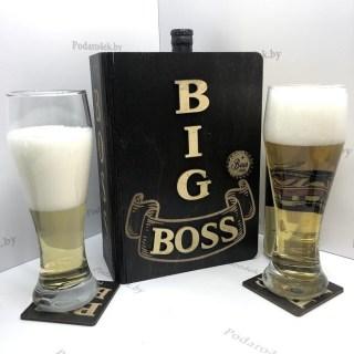 Подарочный набор бокалов для пива «BIG BOSS» Минск +375447651009