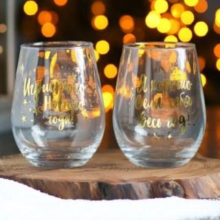 Подарочный набор бокалов для вина «Я хорошо себя вела» купить в Минске +375447651009