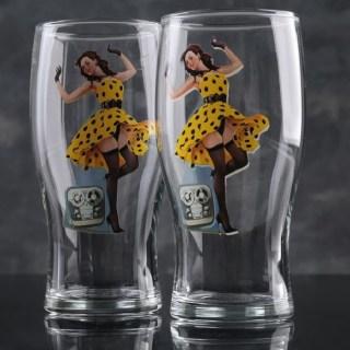 Подарочный набор бокалов «Pin Up Girls» купить в Минске +375447651009