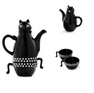 Подарочный набор «Черная Кошка» заварник с чашками Минск +375447651009