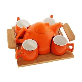Подарочный набор для чая на 4 персоны оранжевый купить в Минске +375447651009