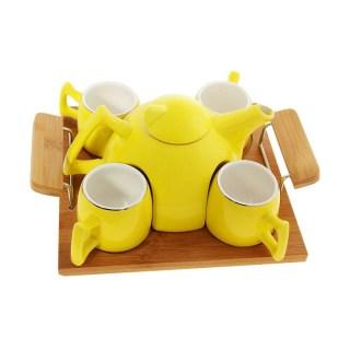 Подарочный набор для чая на 4 персоны желтый купить в Минске +375447651009