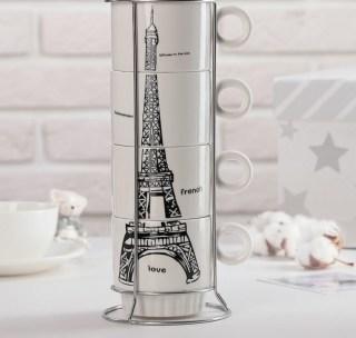 Подарочный набор для чая «Париж» 4 предмета купить Минск +375447651009