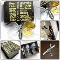 Подарочный набор для коньяка «Больших побед» на 2 персоны +Мультитул 7в1 Минск +375447651009