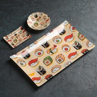 Подарочный набор для суши «Праздничные роллы» 3 предмета купить Минск +375447651009