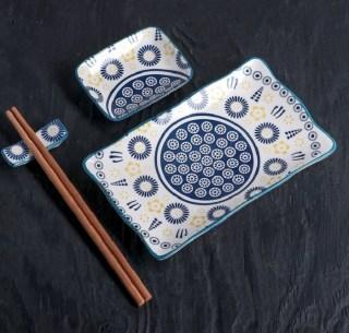 Подарочный набор для суши «Синий узор» 5 предметов купить Минск +375447651009