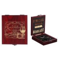 Подарочный набор для вина «Золотой человек» с шахматами купить в Минске +375447651009