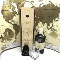 Подарочный набор для виски «Ballantines» со стаканом и камнями купить Минск +375447651009