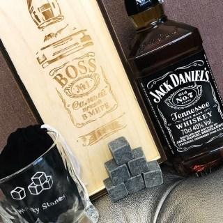 Подарочный набор для виски «BOSS №1» со стаканом и камнями Минск +375447651009