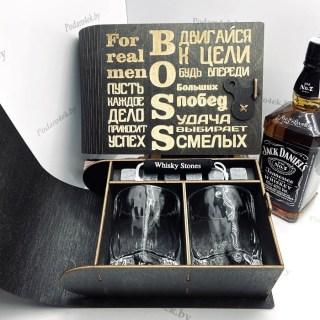 Подарочный набор для виски «BOSS» на 2 персоны Минск +375447651009