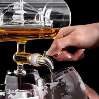 Подарочный набор для виски «Корабль в бутылке» с набором стаканов Минск +375447651009