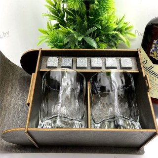 Подарочный набор для виски «С юбилеем 80» на 2 персоны Минск +375447651009