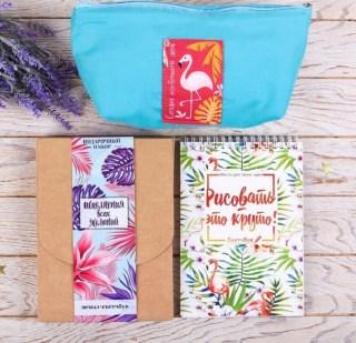 Подарочный набор «Фламинго» блокнот+пенал купить в Минске +375447651009