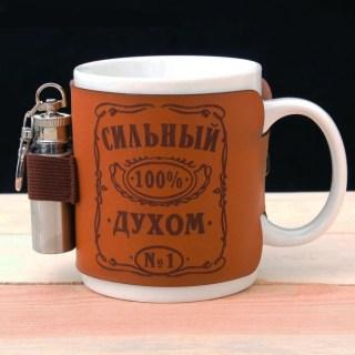 Подарочный набор:фляжка+кружка «Сильный духом» купить в Минске +375447651009