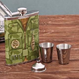 Подарочный набор фляжка со стопками «Рыбак» 4 предмета купить в Минске +375447651009
