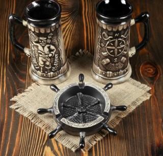 Подарочный набор «Капитан»:бокалы+пепельница купить в Минске +375447651009