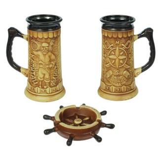 Подарочный набор «Капитан»: бокалы+ пепельница купить в Минске +375447651009