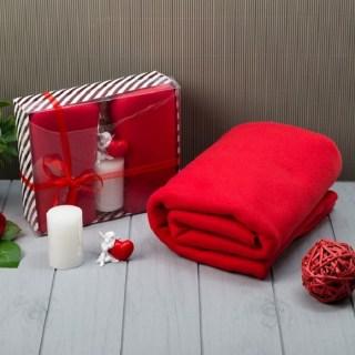 Подарочный набор «Love» плед, свеча, статуэтка купить в Минске +375447651009