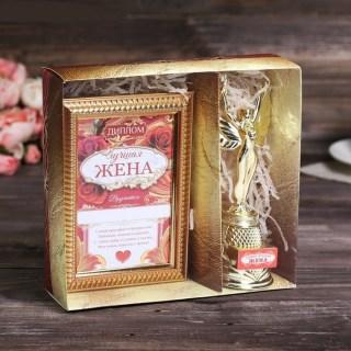 Подарочный набор «Лучшая жена» награда Ника и диплом купить в Минске +375447651009