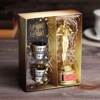 Подарочный набор «Лучший из лучших» Оскар и стопки купить в Минске +375447651009