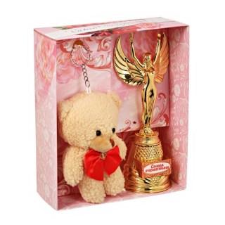 Подарочный набор: награда-Ника, брелок «Самая обаятельная» купить Минск +375447651009