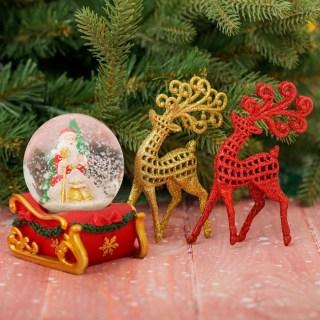 Подарочный набор «Олени» снежный шар + украшения купить в Минске +375447651009