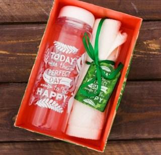 Подарочный набор «Perfect day» бутылка для воды, полотенце купить в Минске +375447651009