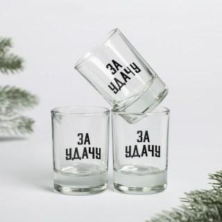 Подарочный набор рюмок «За удачу в Новом Году» купить в Минске +375447651009