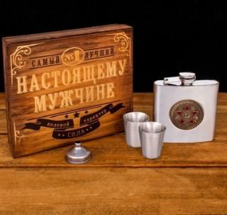 Подарочный набор с фляжкой 180 мл. «Боевые граммы»  купить в Минске +375447651009