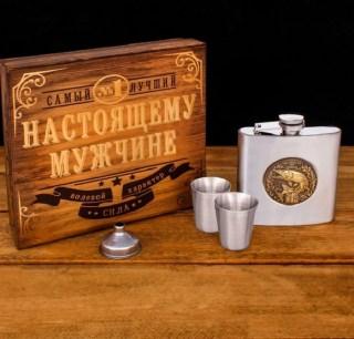 Подарочный набор с фляжкой 180 мл. «Щука» купить в Минске +375447651009