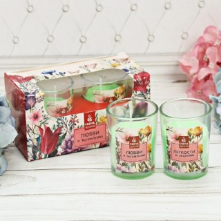 Подарочный набор свечей «Любви и радости» цветочный микс  купить в Минске +375447651009