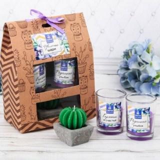 Подарочный набор свечей «Нежная сирень» купить в Минске +375447651009