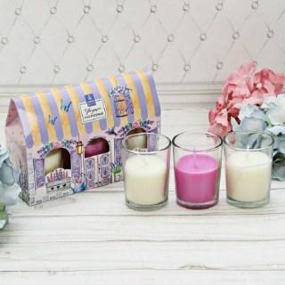 Подарочный набор свечей «Цветущего настроения» ваниль купить в Минске +375447651009