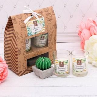 Подарочный набор свечей «Зеленый сад» купить в Минске +375447651009