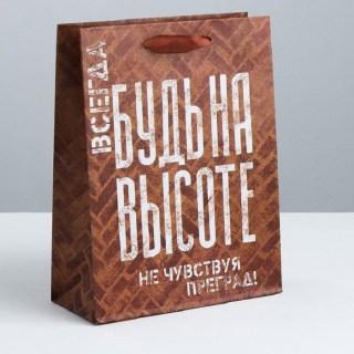 Подарочный пакет «Будь на высоте» 23 × 27 × 8 см Минск +375447651009