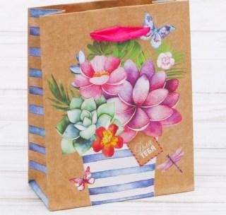 Подарочный пакет «Букет для тебя» 18 × 23 × 8 см Минск +375447651009