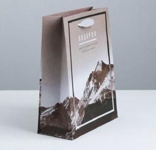 Подарочный пакет «Горы» 18 × 23 × 8 см Минск +375447651009