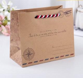 Подарочный пакет крафт «Письмо» 20 х 10 х 17 см Минск +375447651009