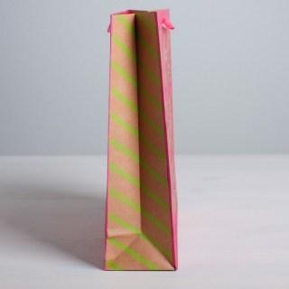 Подарочный пакет крафт «Волшебные коты» 23 × 27 × 8 см Минск +375447651009